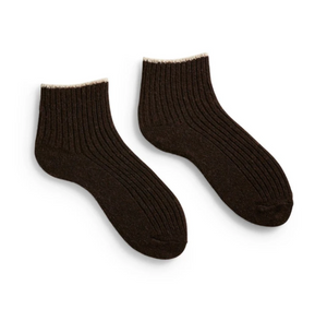WOMEN'S TIPPED RIB SHORTIE SOCK