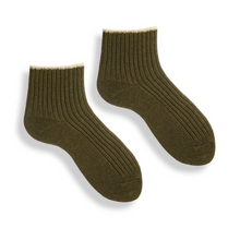 Load image into Gallery viewer, WOMEN'S TIPPED RIB SHORTIE SOCK