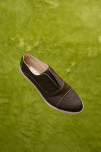 ESPRESSO Brown Pony Hair Oxfords