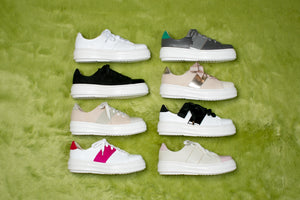 BLANCO White Leather Sneakers