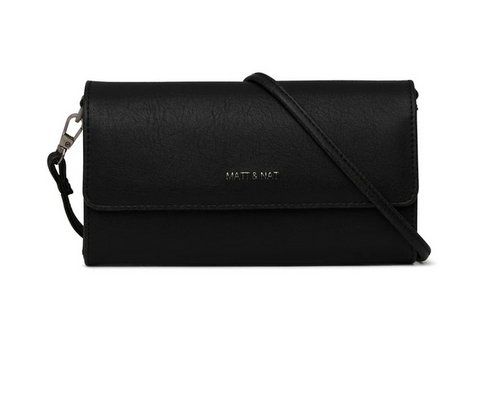 DREW BLACK Small Vegan Crossbody Bag