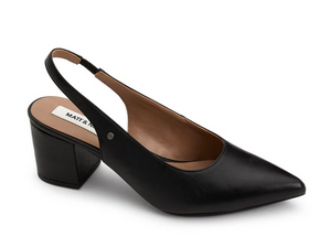 IMAN Vegan Black Slingback Shoe
