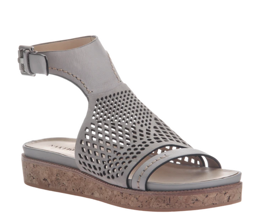 ARIES Grey Flat Sandal