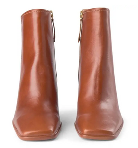 AGATA Tan Leather Boot