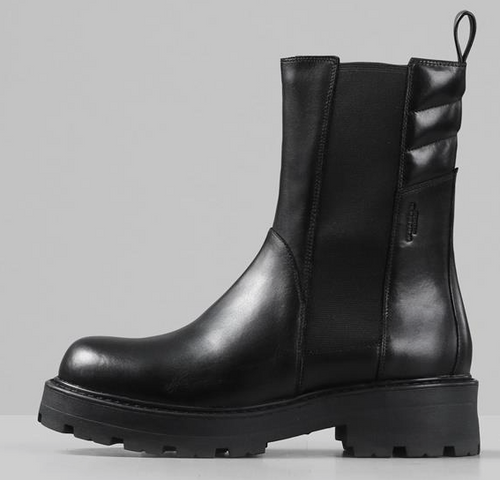 COSMO Black Leather Chelsea Boot