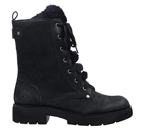 SUMMIT Black Leather Combat Boot
