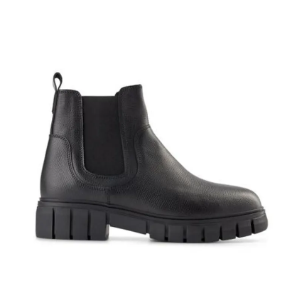 REBEL CHELSEA Black Leather Boot