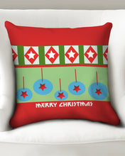 "Load image into Gallery viewer, Merry Christmas Diamonds and Balls Throw Pillow Case 20""x20"""