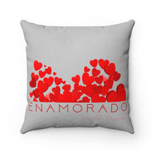 Load image into Gallery viewer, Carlos Daniels - Enamorado 10 - Faux Suede Square Pillow (Light Grey)