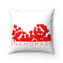 Load image into Gallery viewer, Carlos Daniels - Enamorado 10 - Faux Suede Square Pillow (White)