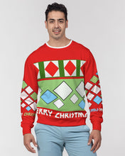 Load image into Gallery viewer, Carlos Daniels - Merry Christmas Diamonds Men's Classic French Terry Crewneck Pullover