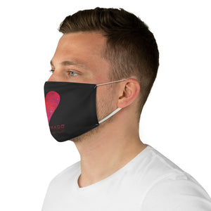 Carlos Daniels - Enamorado 12 - Fabric Face Mask - (Black)