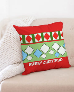 "Carlos Daniels - Merry Christmas Diamonds Throw Pillow Case 20""x20"""