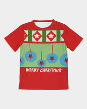 Load image into Gallery viewer, Merry Christmas Diamonds and Balls Kids Tee