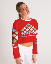 Load image into Gallery viewer, Carlos Daniels - Merry Christmas Diamonds Women's Cropped Sweatshirt