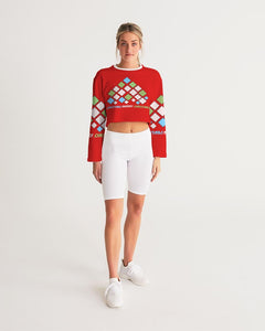 Carlos Daniels - Merry Christmas Diamonds Women's Cropped Sweatshirt