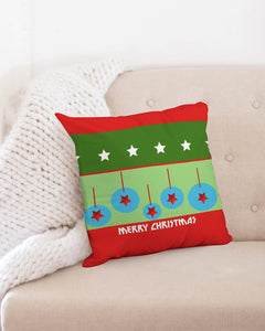 "Carlos Daniels - Merry Christmas Stars And Balls Throw Pillow Case 18""x18"""
