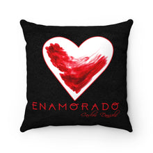 Load image into Gallery viewer, Carlos Daniels - Enamorado 11 - Faux Suede Square Pillow (Black)