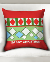 "Load image into Gallery viewer, Carlos Daniels - Merry Christmas Diamonds Throw Pillow Case 20""x20"""
