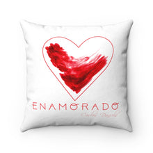 Load image into Gallery viewer, Carlos Daniels - Enamorado 11 - Faux Suede Square Pillow (White)
