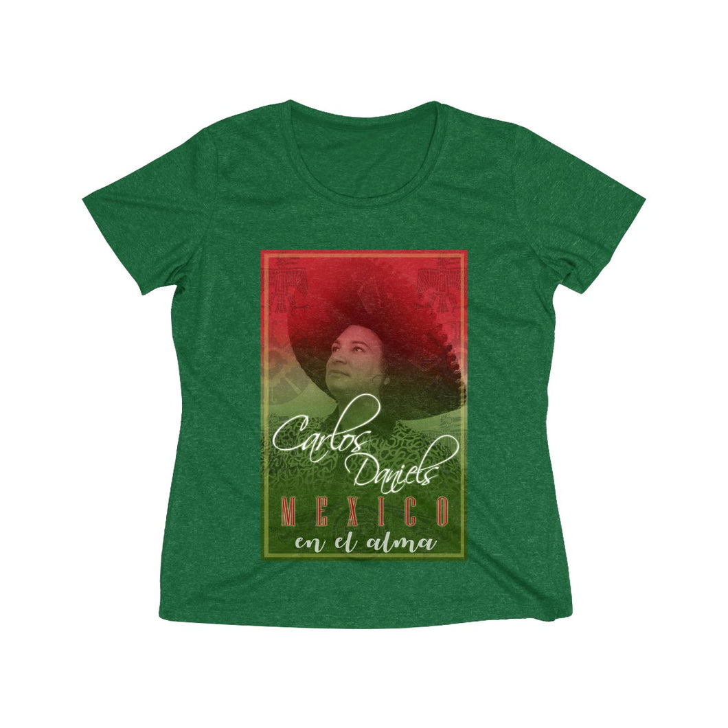 Carlos Daniels - Mexico En El Alma - Women's Heather Wicking Tee