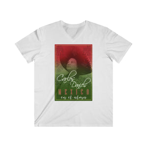 Carlos Daniels - Mexico En El Alma - Men's Fitted V-Neck Short Sleeve Tee