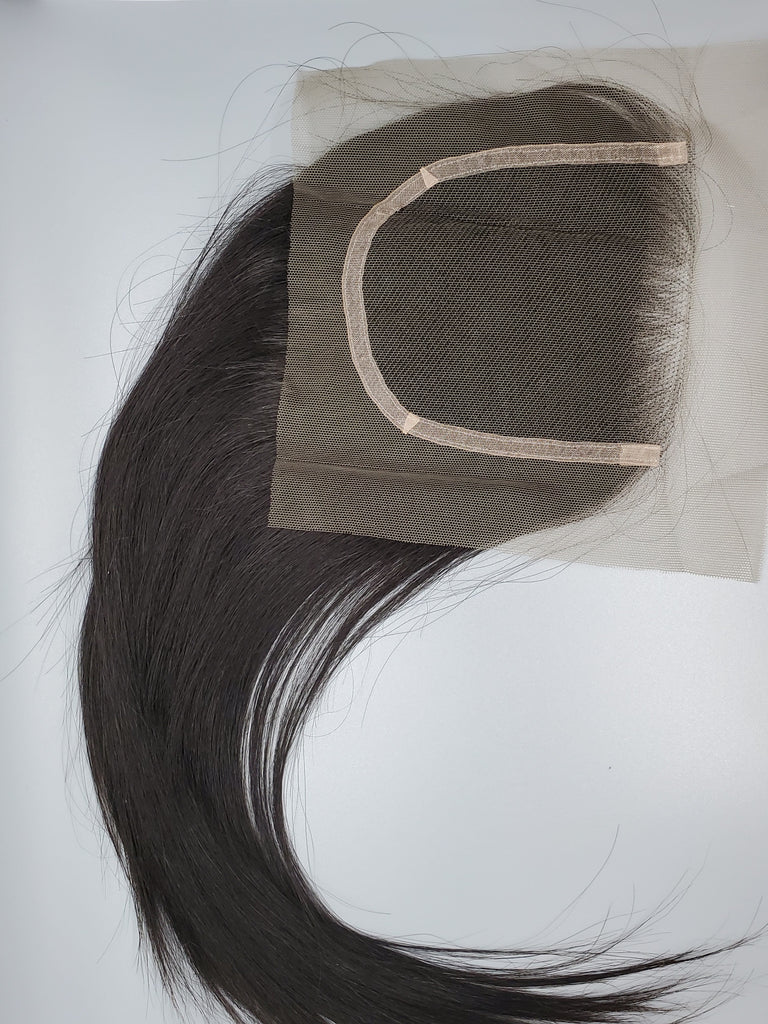 """Suave""- Brazilian Straight 4x4 Closure"