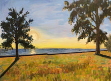 Load image into Gallery viewer, Lakefront Sunset / Radiance, 3' x 4', Acrylic on canvas