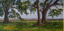 "Load image into Gallery viewer, Mandeville Lakefront - en plein air, 7"" x 14"", acrylic on canvas"