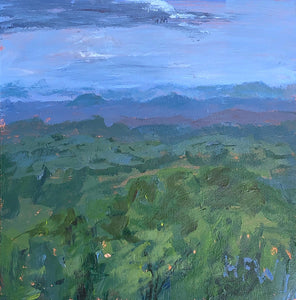 "View From Shepherd of the Hills, 6"" x 6"", acrylic on panel"