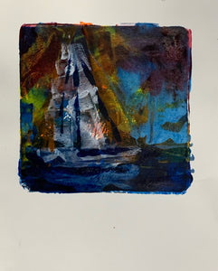 Sailing Monoprints