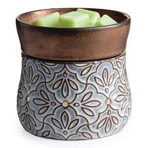 2-in-1 Fragrance Warmers Deluxe- Bronze Floral