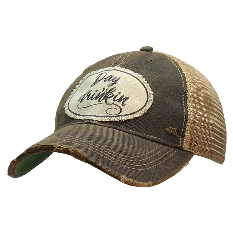 Day Drinking' Distressed Trucker Cap