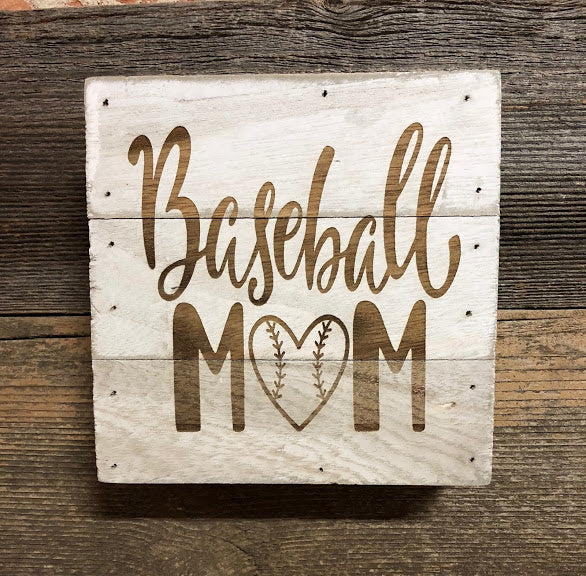 Engraved Decor-Baseball Mom