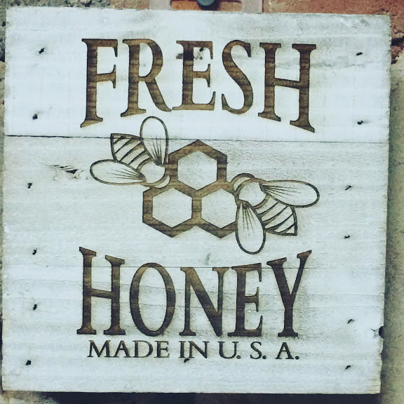 Engraved Decor-Fresh Honey