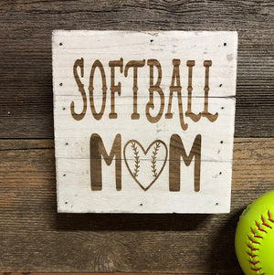 Engraved Decor-Softball Mom