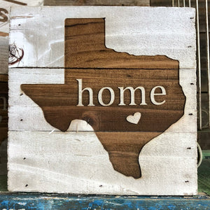 Engraved Decor-Texas Home w/ Heart