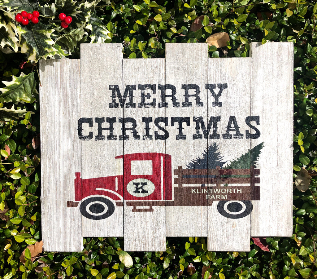 Custom UV Printed Sign - Christmas Tree Farm