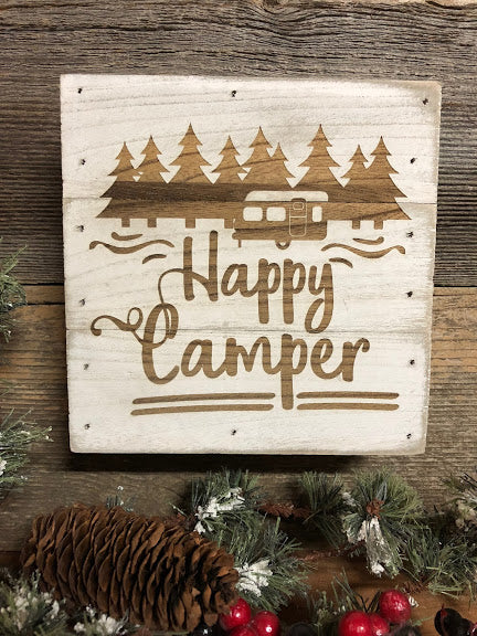 Engraved Decor-Happy Camper