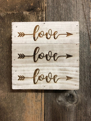 Engraved Sign-Love Arrow