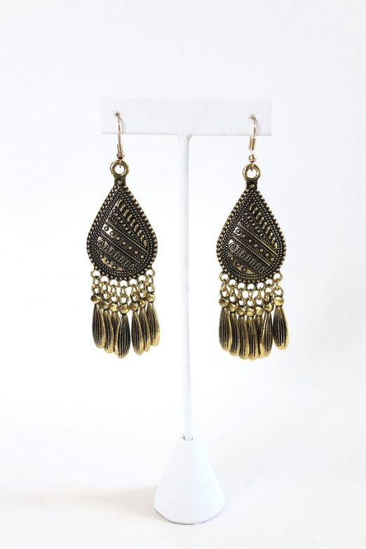 Vintage Gold Teardrop Earrings