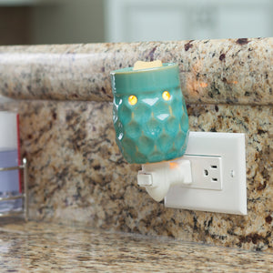 Pluggable Fragrance Warmer- Honeycomb Turquoise