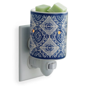 Pluggable Fragrance Warmer-Indigo Porcelain
