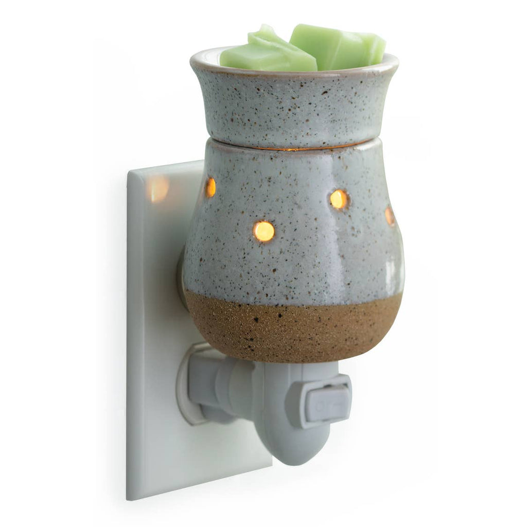 Pluggable Fragrance Warmer-Rustic White