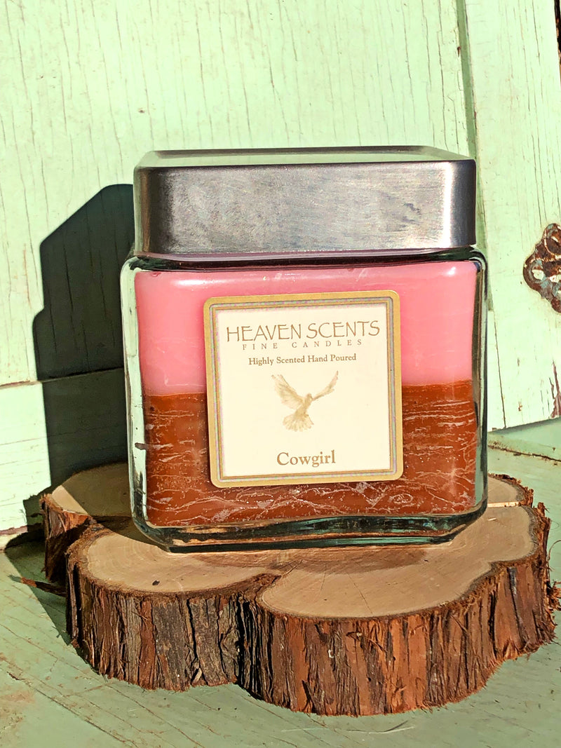 24 oz Candle- Cowgirl Scent