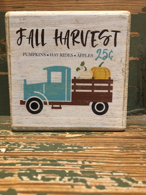 Handmade Décor- Fall Harvest Truck