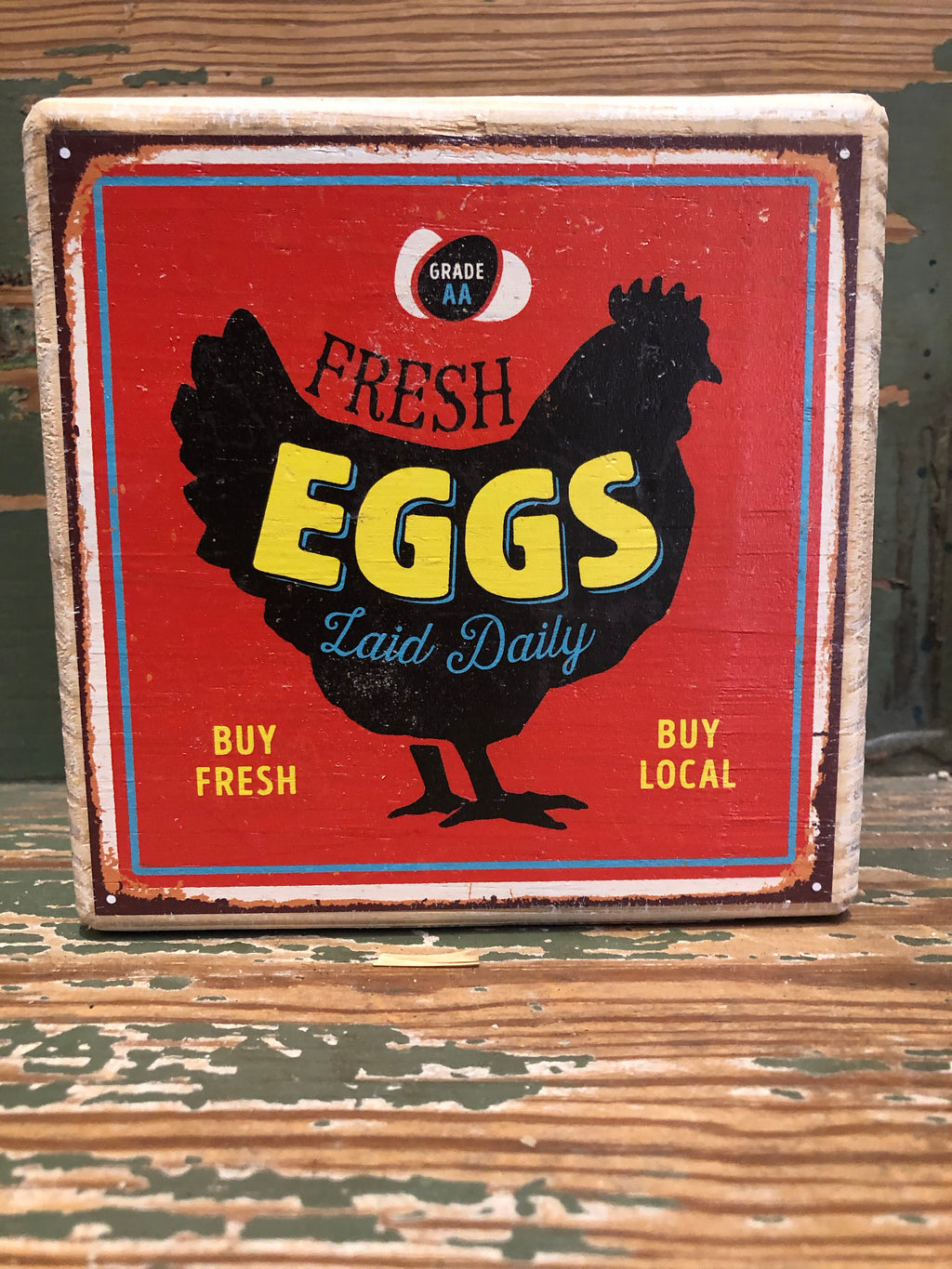 Handmade Décor- Fresh Eggs Red