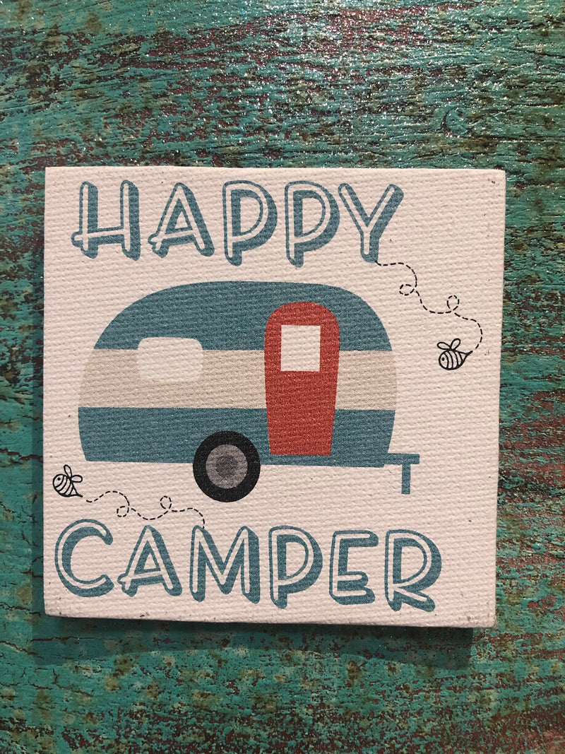 Canvas Magnet-Happy Camper