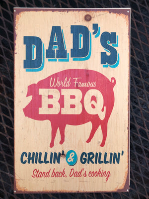 UV Color Handmade Decor-Dad's World Famous BBQ-Natural Pine