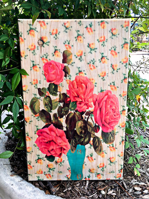 UV Color Handmade Decor-A Vintage Rose Bouquet